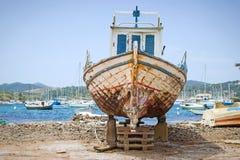 Old fishing boat stock image