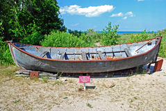 Old fishing boat. An old fishing boat that was used on lake huron Royalty Free Stock Image