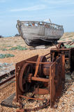 Old Fishing Boat and Winches Royalty Free Stock Photos