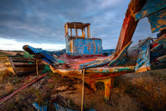 Old Fishing Boat Wreck, HDR Image Stock Photos