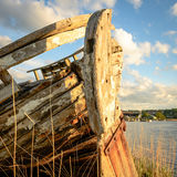 Old fishing boat wreck Stock Photography