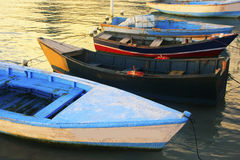 Old fishing boats, Boca Chica bay Stock Photography