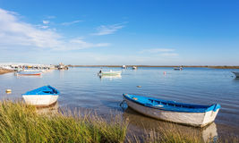 Old Fishing Boats In The Bay. Portugal. Royalty Free Stock Image