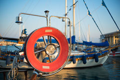 Old fishing boats in Limassol harbour. Cyprus Stock Images