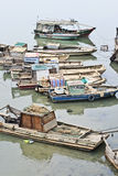 Old fishing boats in a river, Haikou, China Royalty Free Stock Photo
