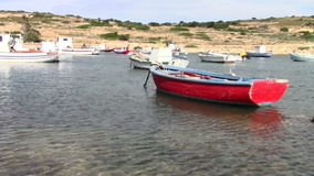 Old fishing boats stock footage