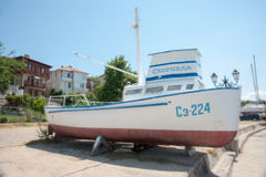 Old fishing boats in the Sozopol, Bulgaria Royalty Free Stock Image