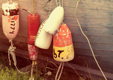 Old fishing buoys Royalty Free Stock Image