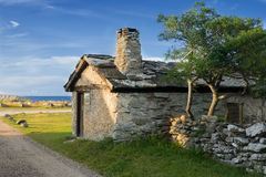 Old fishing cabin, Gotland, Sweden Stock Photo