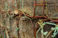 Old fishing cages Stock Photo