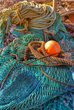 Old fishing gear Stock Images