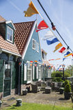 Old fishing green cottages on the island of Marken Royalty Free Stock Photos