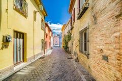 Old fishing hamlet. The streets of the old hamlet of fishermen in Rimini stock photos