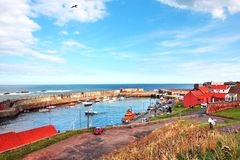 Old, fishing harbour in Dunbar Stock Image