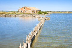 Old fishing home in the Comacchio's valleys Royalty Free Stock Photo