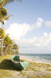 Old fishing kayak boat corn island nicaragua Stock Image