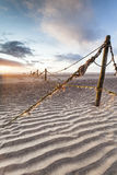 Old Fishing line and stakes at St Cyrus in Scotland. Royalty Free Stock Photography