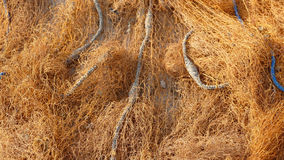 Old Fishing net in orange color Royalty Free Stock Photos