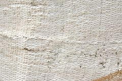 Old Fishing Net on White Wall Stock Photography