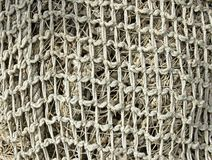 Old fishing nets closeup Royalty Free Stock Images