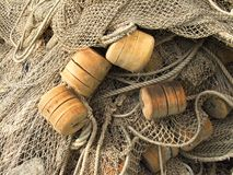 Old fishing nets closeup Stock Photography