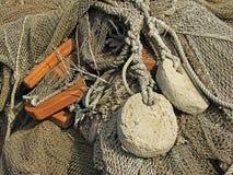 Old fishing nets closeup Stock Photography