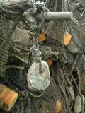 Old fishing nets closeup Royalty Free Stock Photo