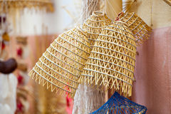 Old fishing nets made of straw and handmade Royalty Free Stock Photo