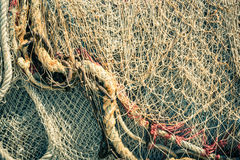 Old fishing nets and ropes Stock Photography