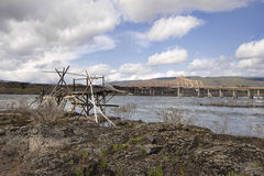 Old Fishing Platform by The Dalles Bridge Royalty Free Stock Images