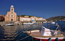 Old fishing port on sea. Port Vendres in France region Languedoc-Roussillon Stock Image