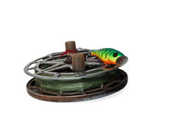 Old fishing reel Royalty Free Stock Image