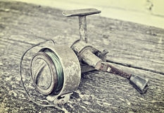 Old fishing reel Stock Image