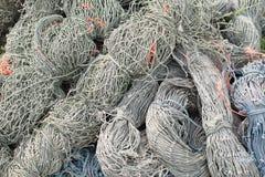 Old fishing rope. At phuket thailand Royalty Free Stock Photo