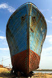 Old fishing ship stock images