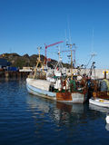 Old fishing ship, Greenland. An old fishing ship docked in Sisimiut harbour Royalty Free Stock Photos
