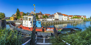 Old fishing ship at the harbor in Wolgast, Stock Photos