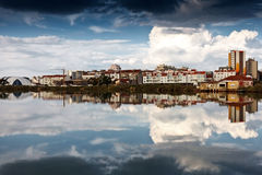 Old fishing town along the river. royalty free stock photo