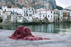 Cefalu old fishing town  Royalty Free Stock Photography