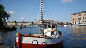 Old fishing trawler. And part of the Stockholm Ship Association Royalty Free Stock Photos