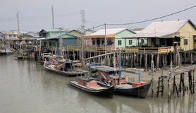 Old Fishing Village. Photo of an Old Fishing Village Royalty Free Stock Photography