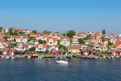 Old fishing village stock photography
