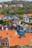 Old fishing village stock image