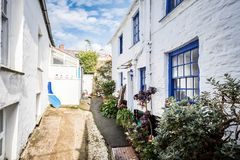 Old fishing village. Port Isaac, the little village on the sea in Cornwall stock photos