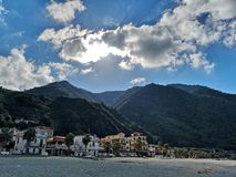 Old fishing village of Scilla stock photography