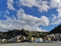 Old fishing village of Scilla. Old town on Scilla on the Tirrenian Coast, Calabria, Italy stock photo