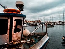Old Fishing village in Scotland royalty free stock images