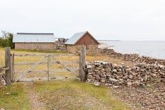 Old fishing village royalty free stock photo