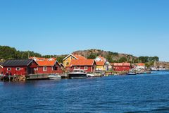 Old fishing village stock images