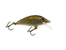 Old fishing wobbler a small fish Stock Images